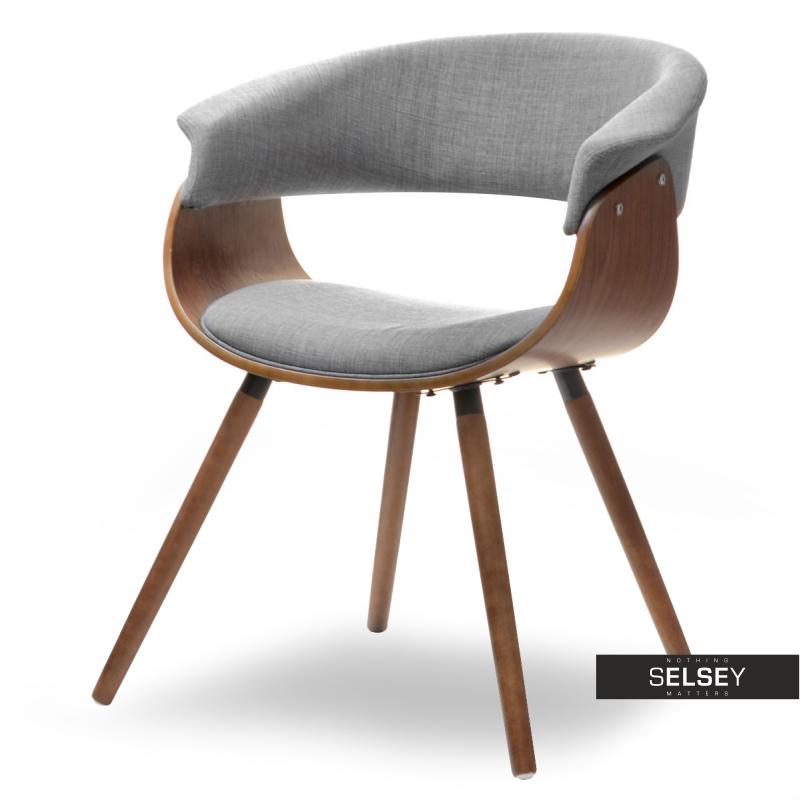 Krzesło Elina szare - orzech z drewna giętego
