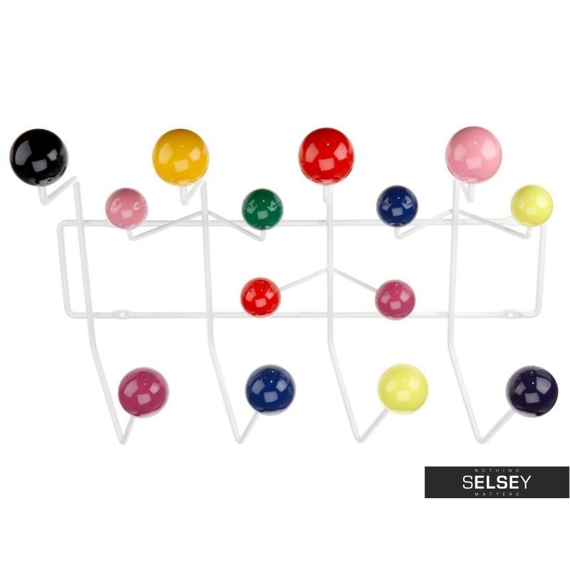 Wieszak na ścianę Ball kolorowy na dodatki