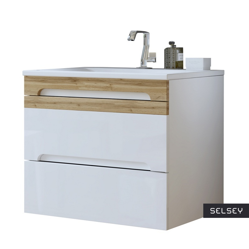 Szafka pod umywalkę Warner biała 80 cm