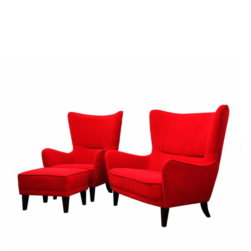 Komplet wypoczynkowy Mons sofa i fotel z podnóżkiem