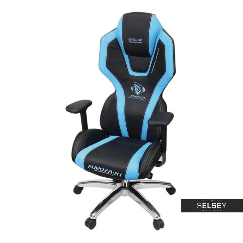 Fotel gamingowy E-Blue Auroza czarno-niebieski