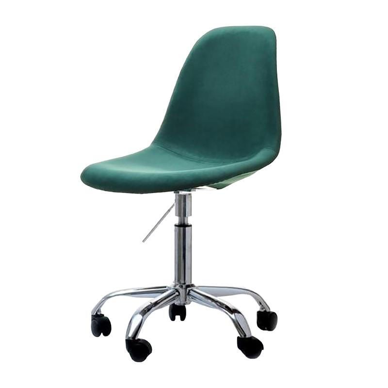 Fotel biurowy MPC move tap zielone obrotowe z tkaniny velvet