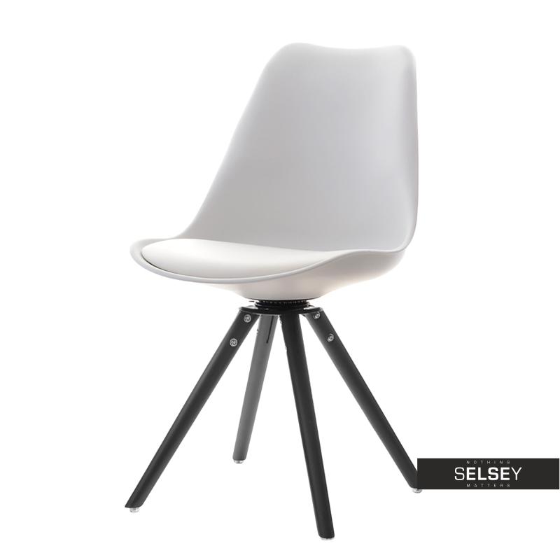 Krzesło Luis rot biało-czarny z obrotowym siedziskiem