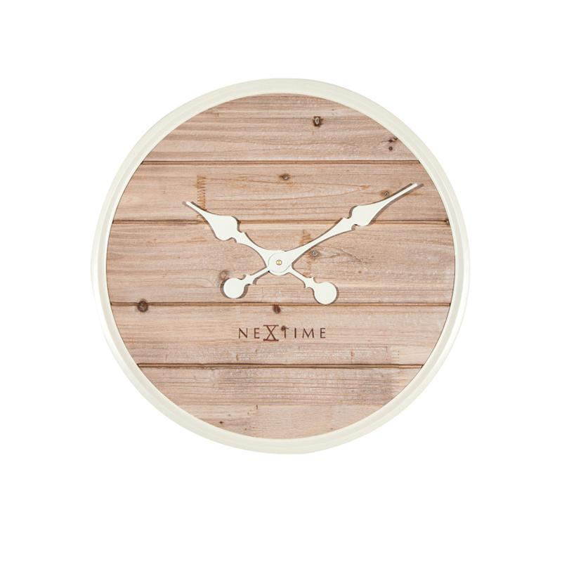 Zegar drewniany Plank średnica 50 cm