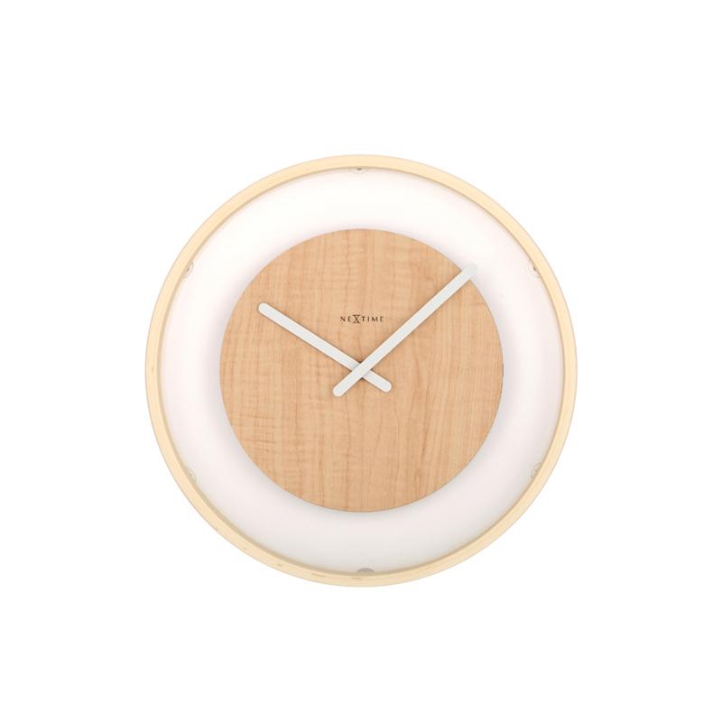 Zegar drewniany Wood Loop średnica 30 cm