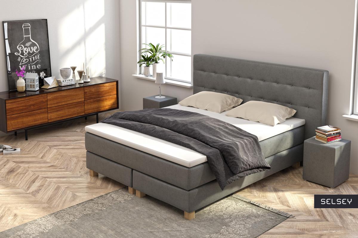 łóżko Kontynentalne Gent Ze Stolikami Nocnymi