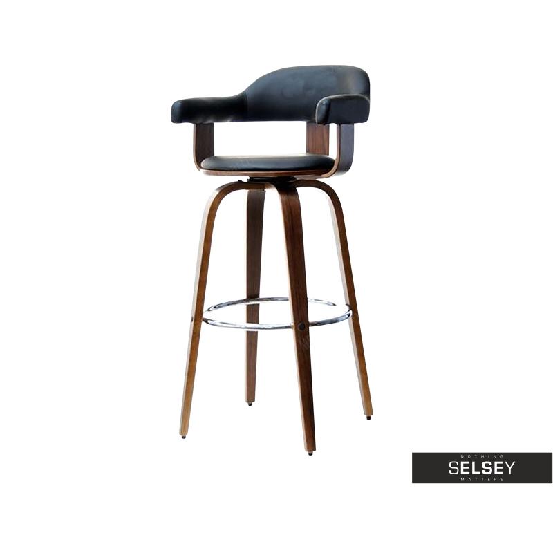 2f2aea74b209 Hoker 37 orzech-czarny obrotowe krzesło barowe z giętego drewna - Selsey