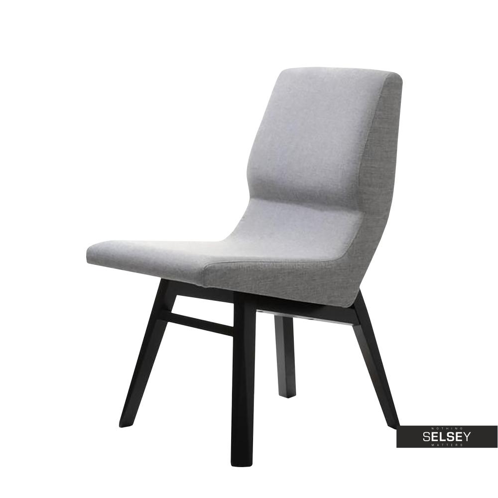 Oryginał Krzesło Fondi szare designerskie na drewnianych nogach - wysoka PD01