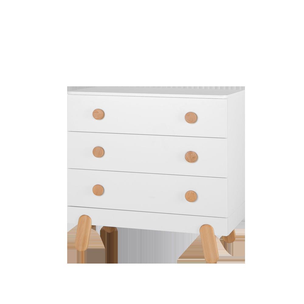 Komoda I'ga z trzema szufladami biała