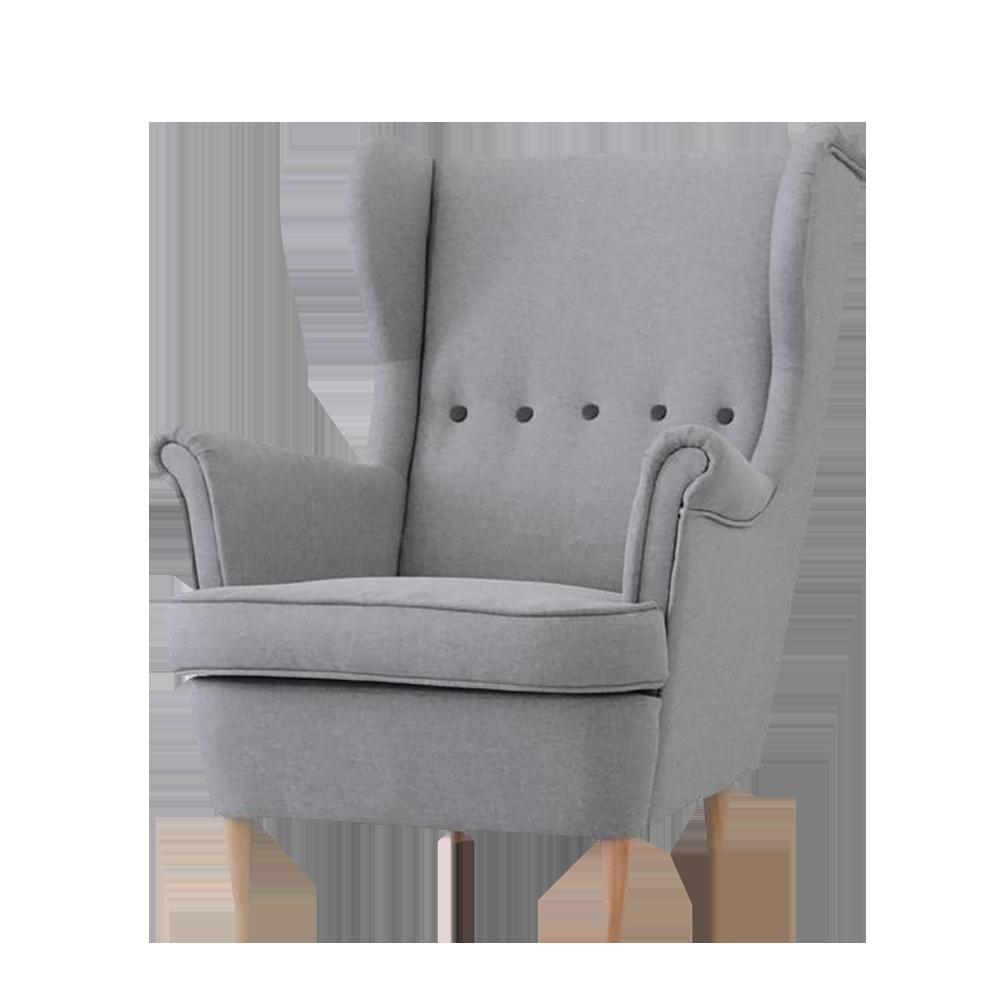 Fotel Malmo szary designerski uszak