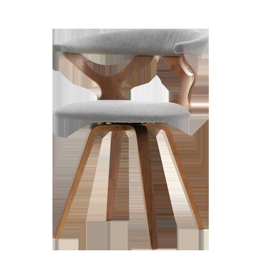 Krzesło Bonito orzech - szary