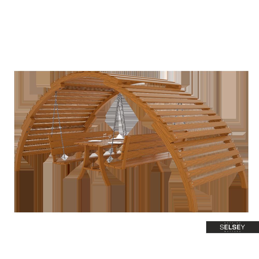 Altana ogrodowa GardenSet z huśtawką, stolikiem i ławką