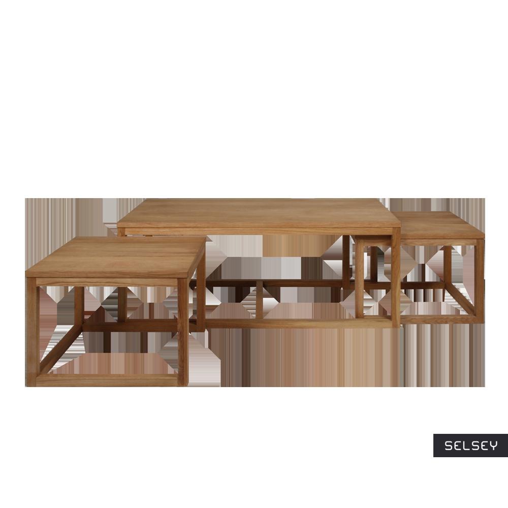 Zestaw trzech stolików kawowych Mojo 120x60 cm i 56x51,5 cm