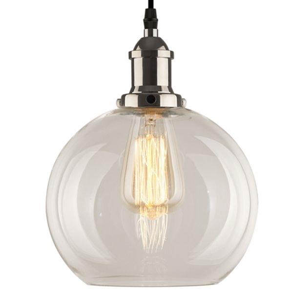 Lampa wisząca New York Loft 2 chrom z transparentnym kloszem