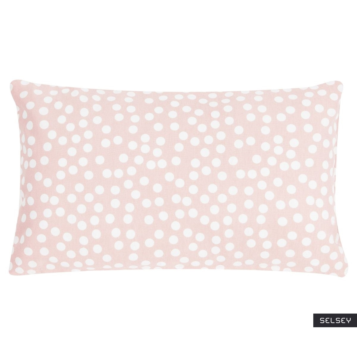 Poduszka z poszewką Allover Dots różowa 30x50 cm