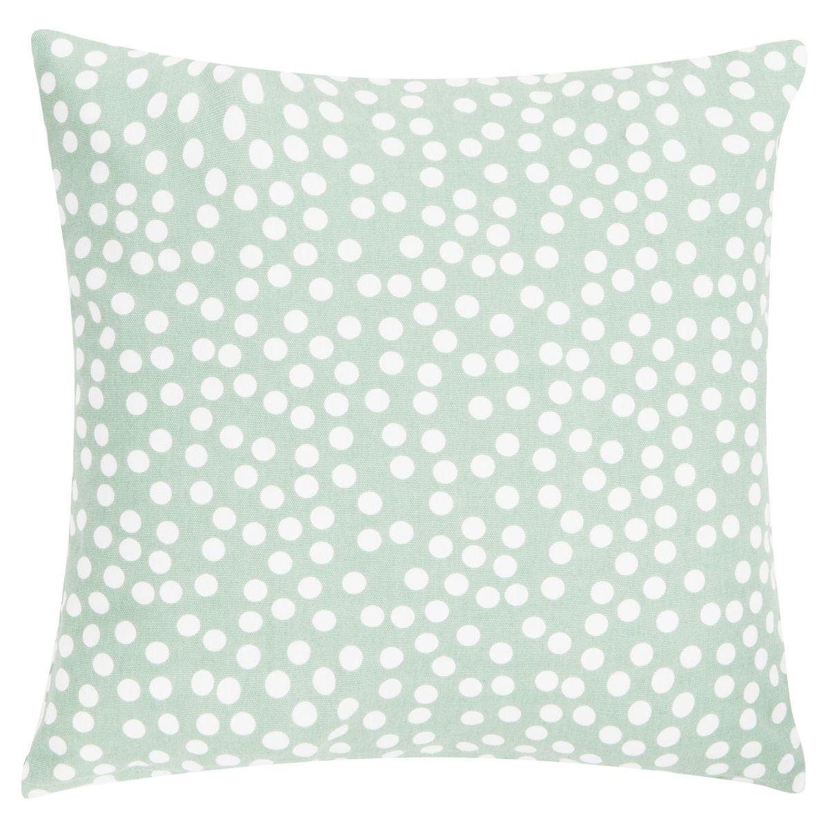Poduszka z poszewką Allover Dots zielona 45x45 cm