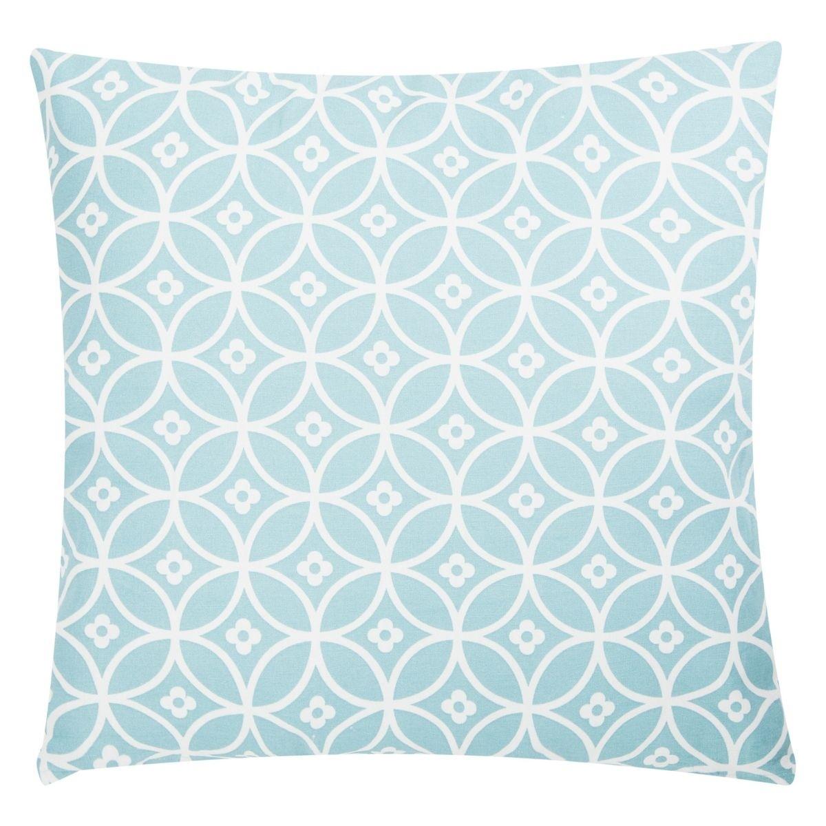 Poduszka z poszewką Crossed Circles niebieska 45x45 cm