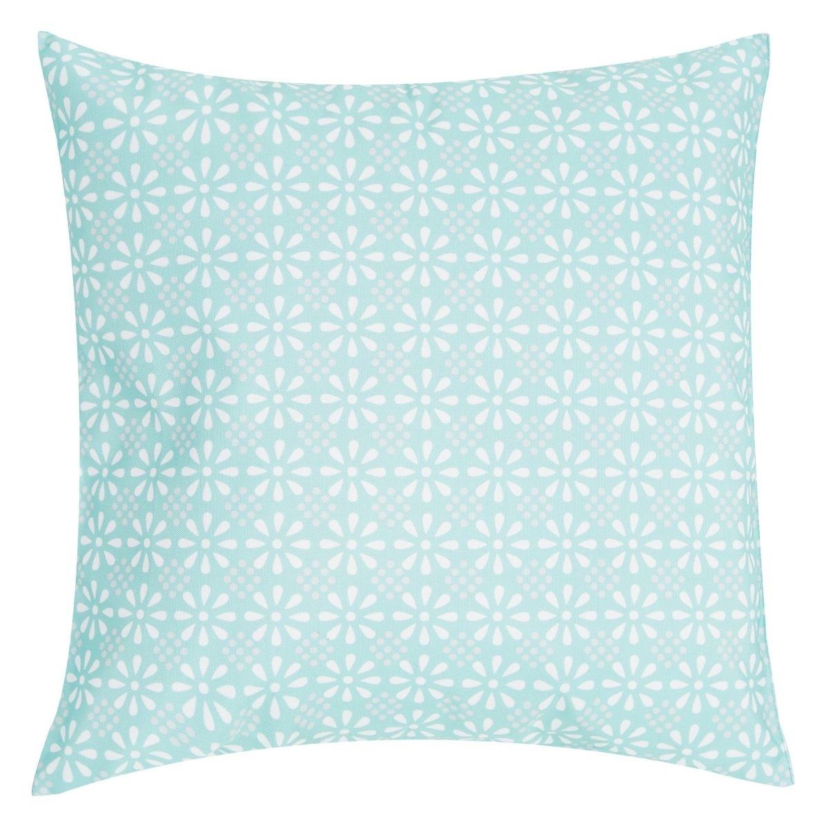 Poduszka z poszewką Daliate niebieska 47x47 cm