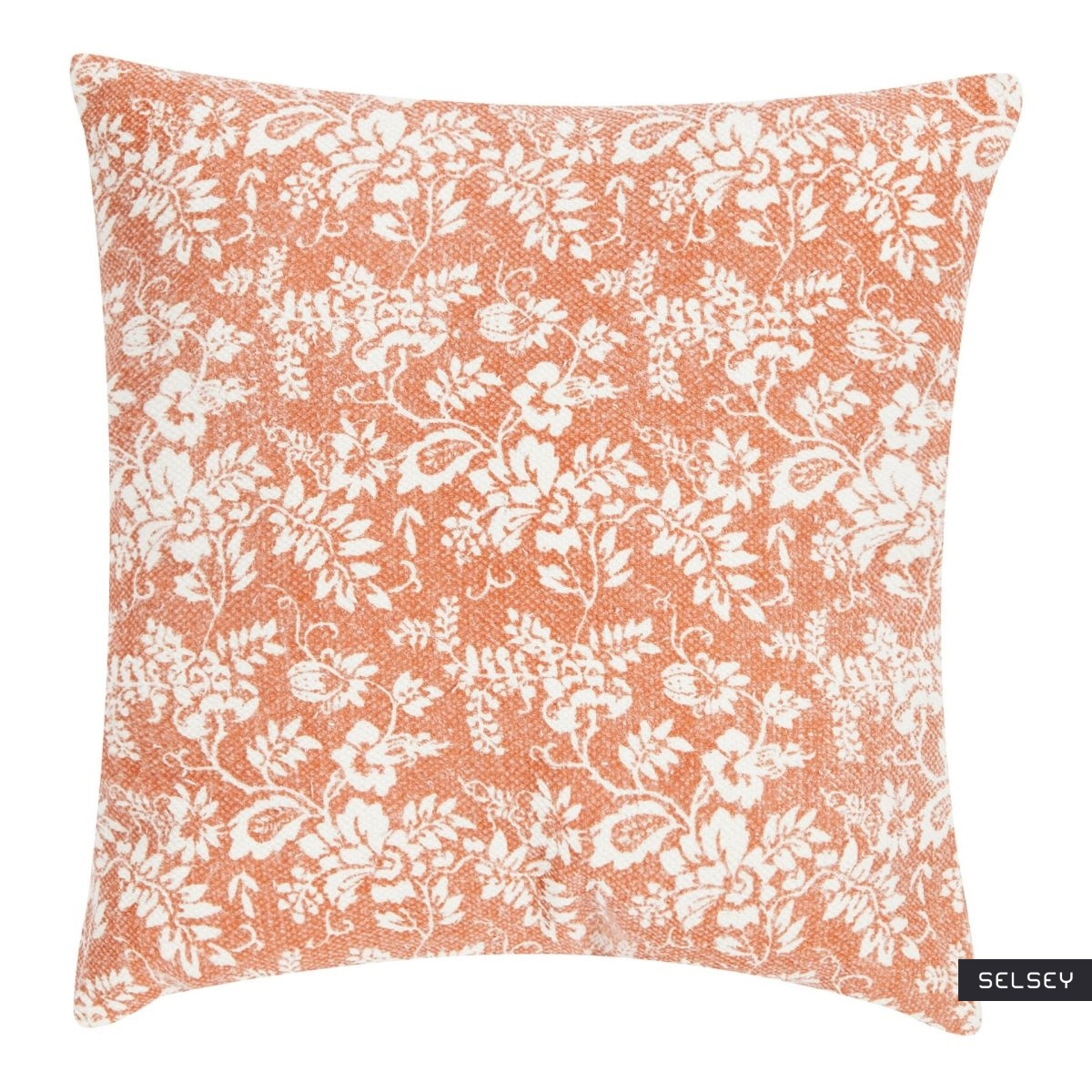 Poduszka z poszewką Flower Garden Orange 45x45 cm