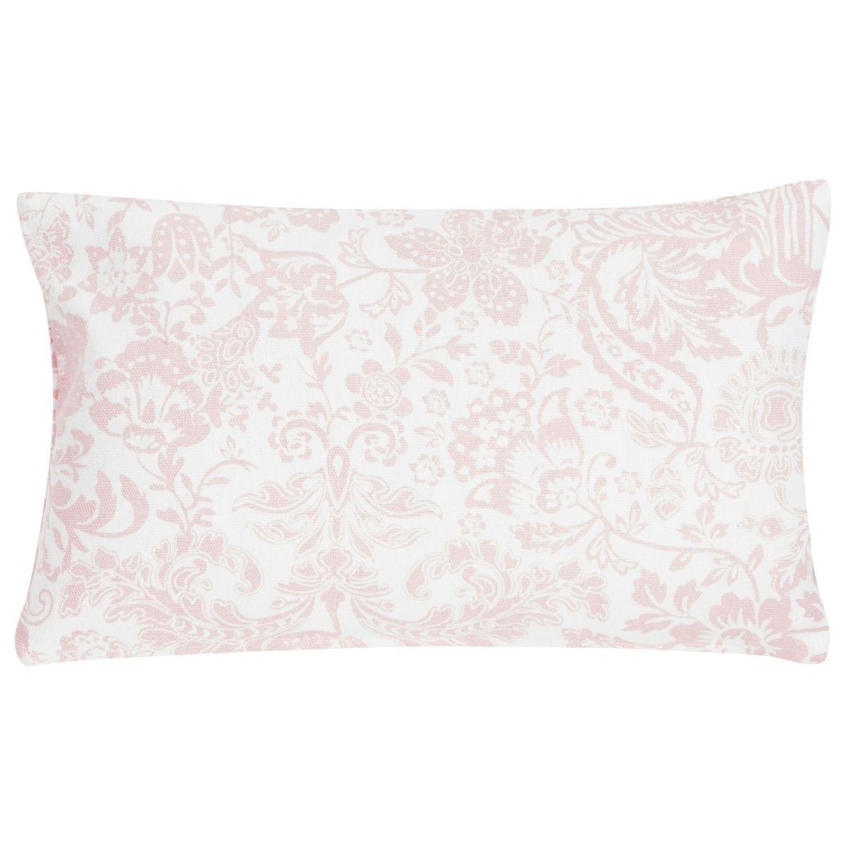Poduszka z poszewką Paisley Flower biało różowa 30x50 cm