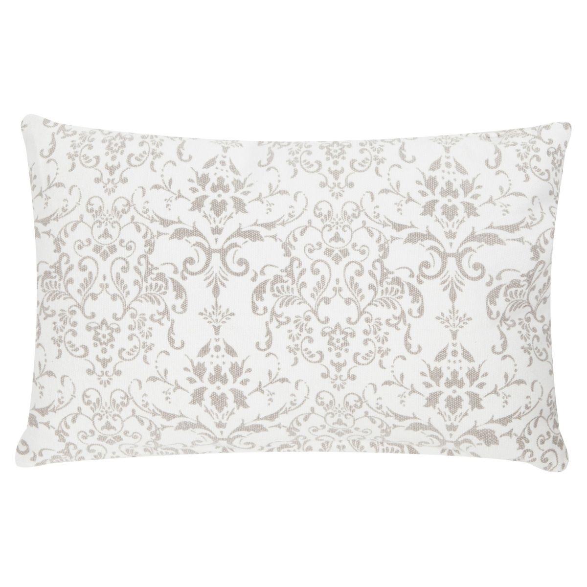 Poduszka z poszewką Stonewash beżowo-biała 30x50 cm