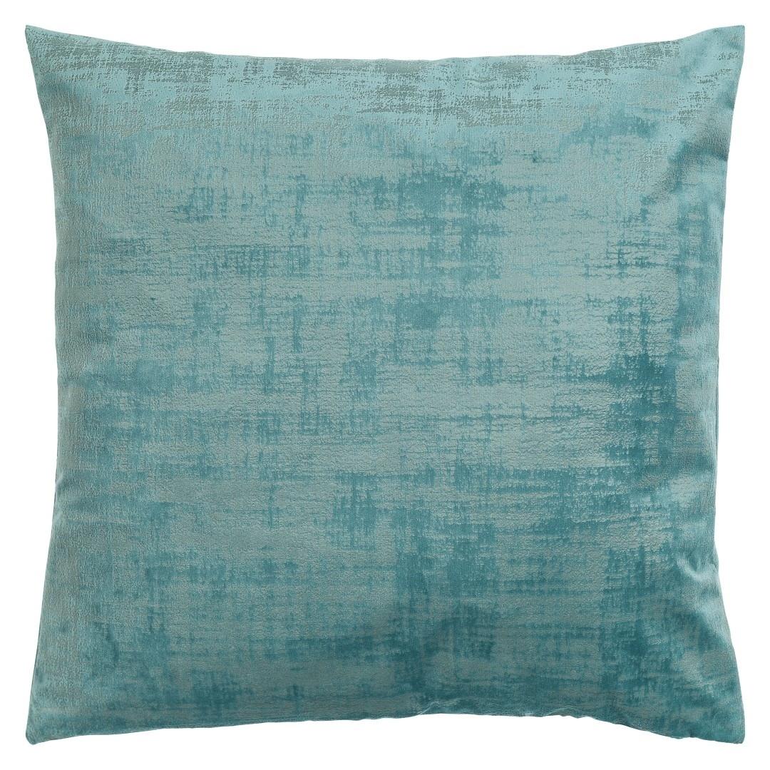 Poduszka z poszewką Vintage Velvet turkusowa 50x50 cm