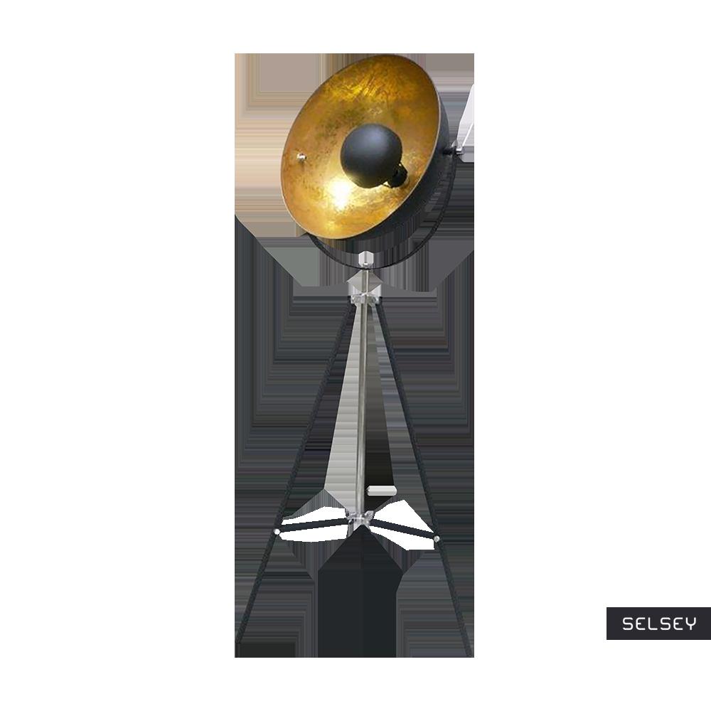 Lampa podłogowa Gravity czarna ze złotym wnętrzem 170 cm