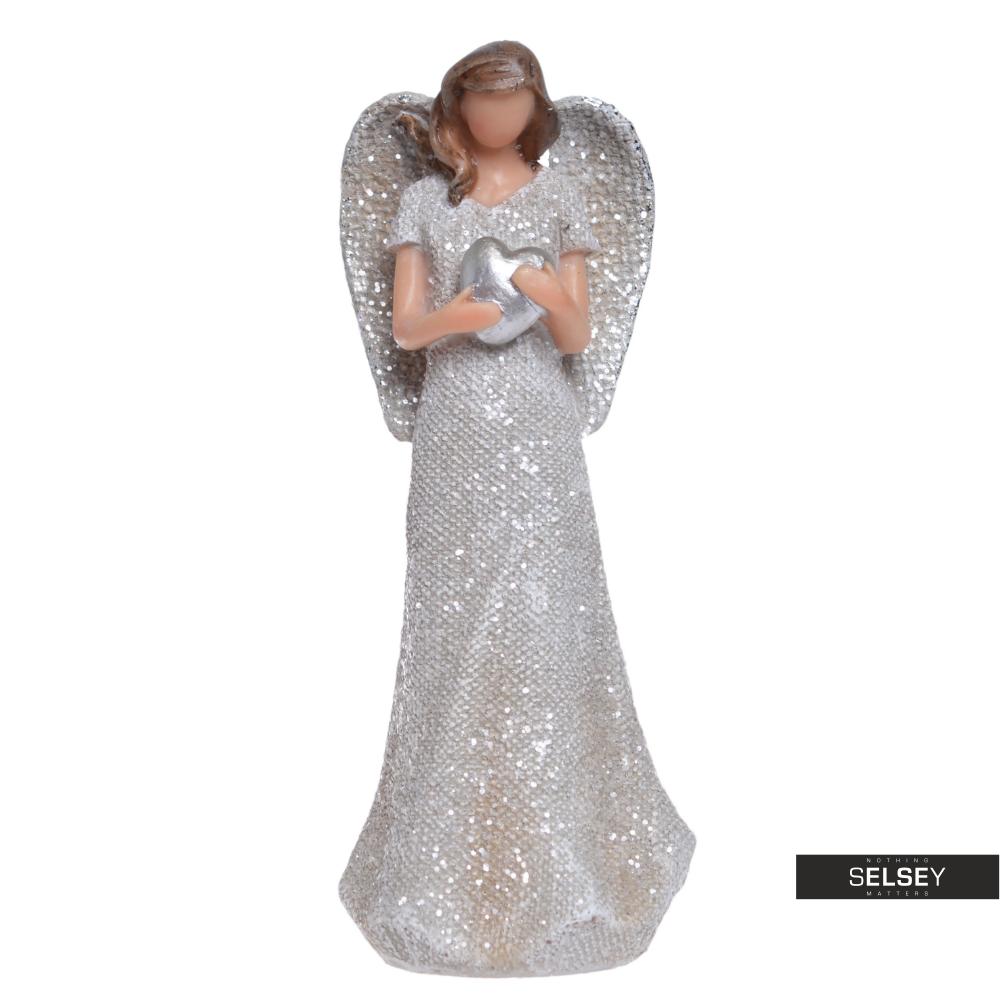 Anioł dekoracyjny z sercem 15,5 cm