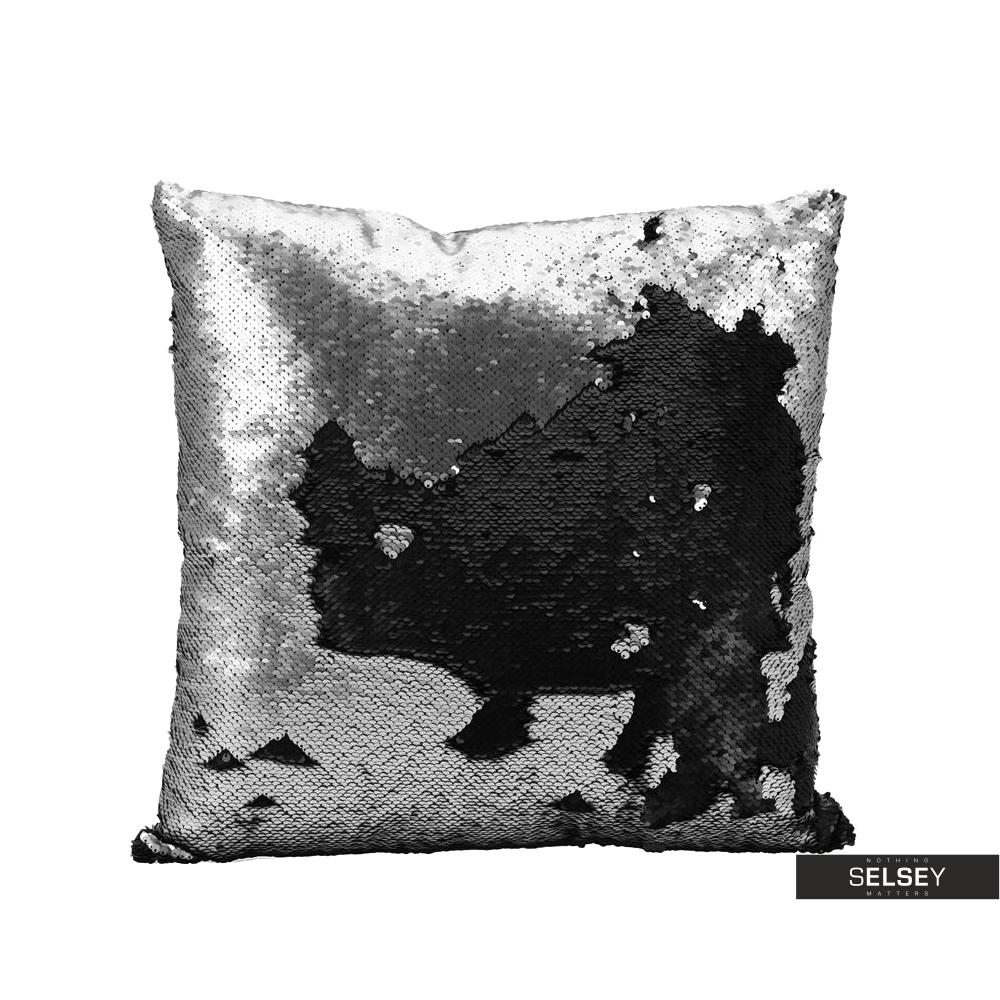 Poduszka z poszewką Sparkle srebrna 45x45 cm