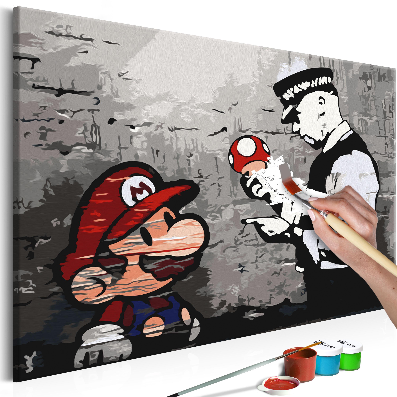 Obraz do samodzielnego malowania Mario (Banksy)