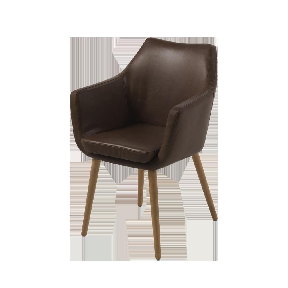 Krzesło Albis ciemny brąz