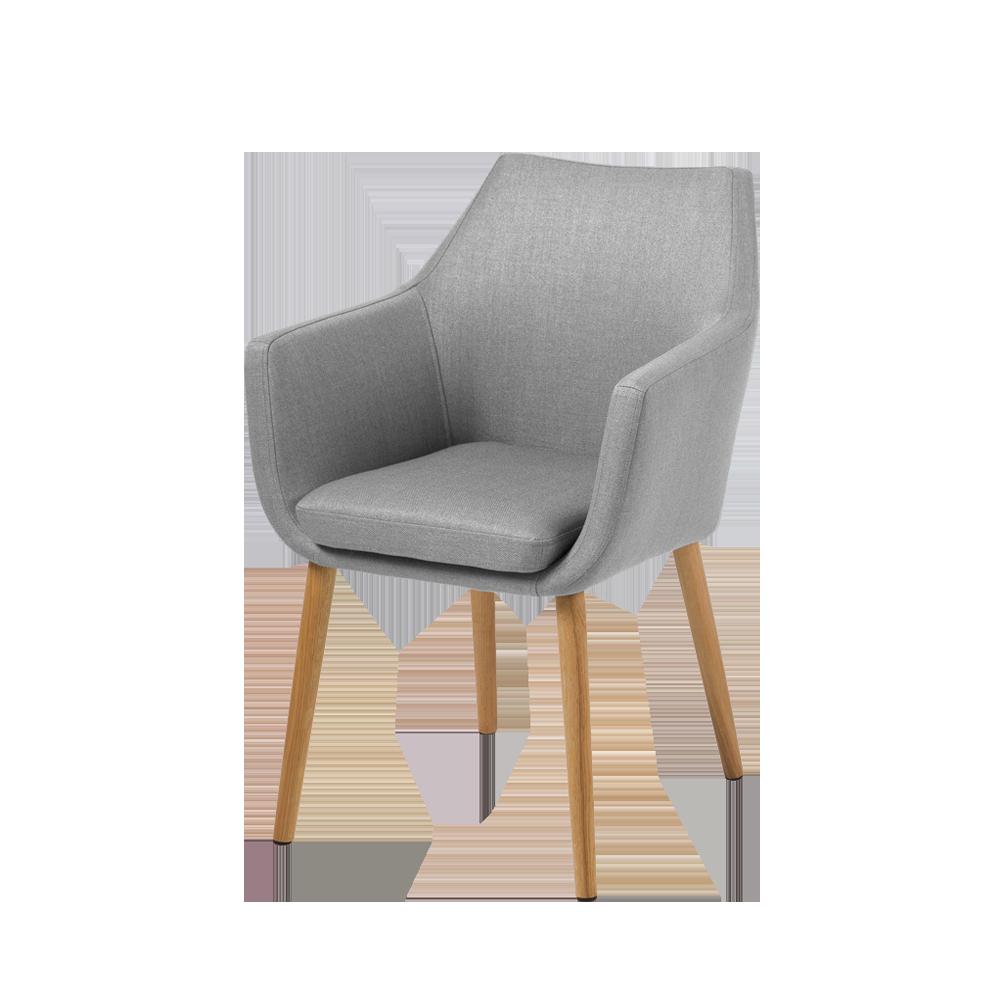 Krzesło Marcelio jasnoszare