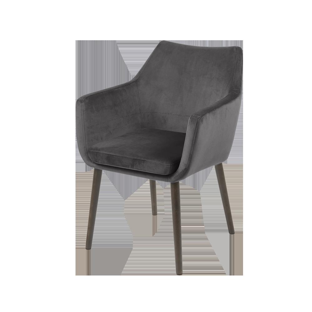 Krzesło Albis szaro - brązowe