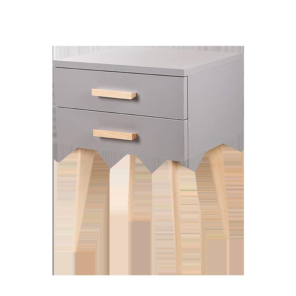 Szafka nocna Sardynia szara z dwiema szufladami