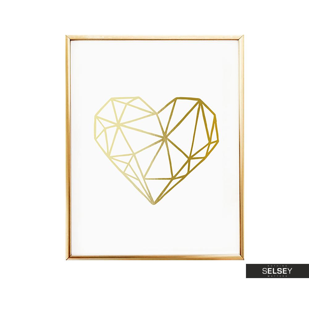 Plakat Serce Geometryczne
