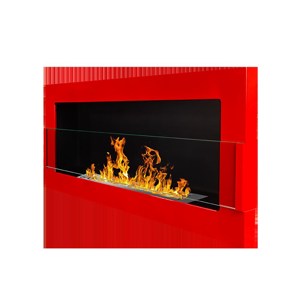 Biokominek Astralis 90x40 cm z certyfikatem TÜV Czerwony połysk