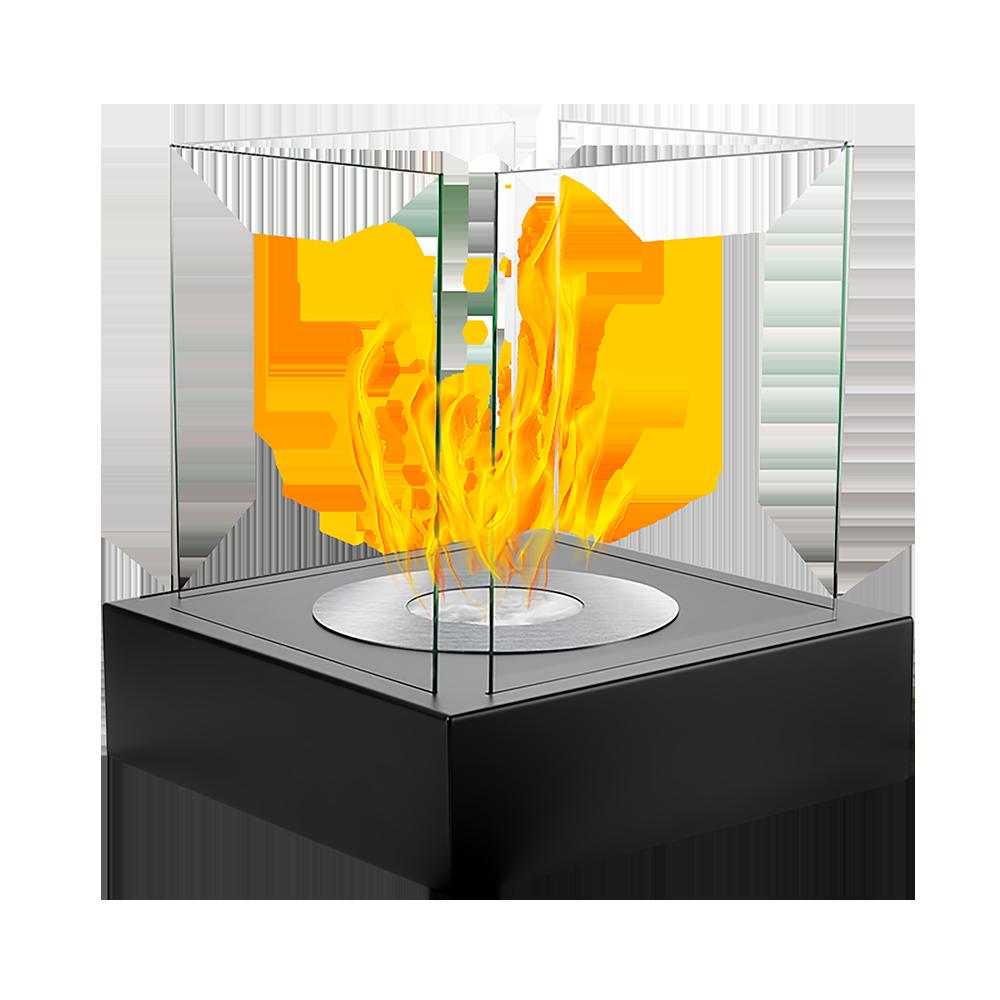 Biokominek Cube Czarny strukturalny