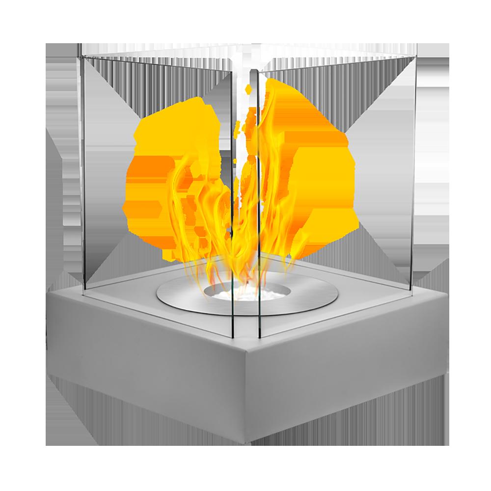 Biokominek Cube Szary strukturalny