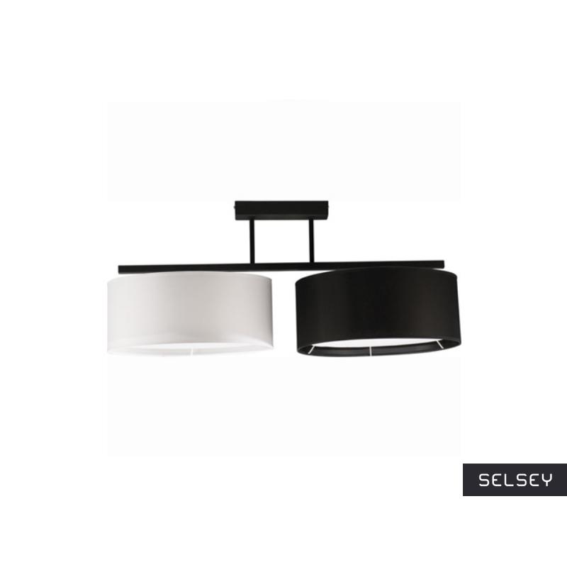 Lampa wisząca Harmony czarno-biała x2