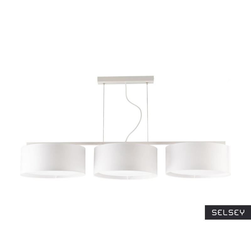 Lampa wisząca Harmony biała x3 długa