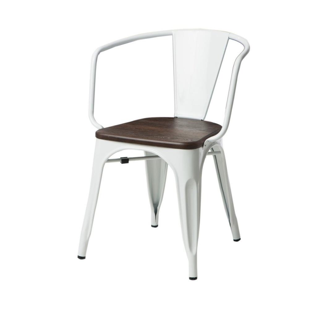 Krzesło Paris Arms Wood białe sosna szczotkowana