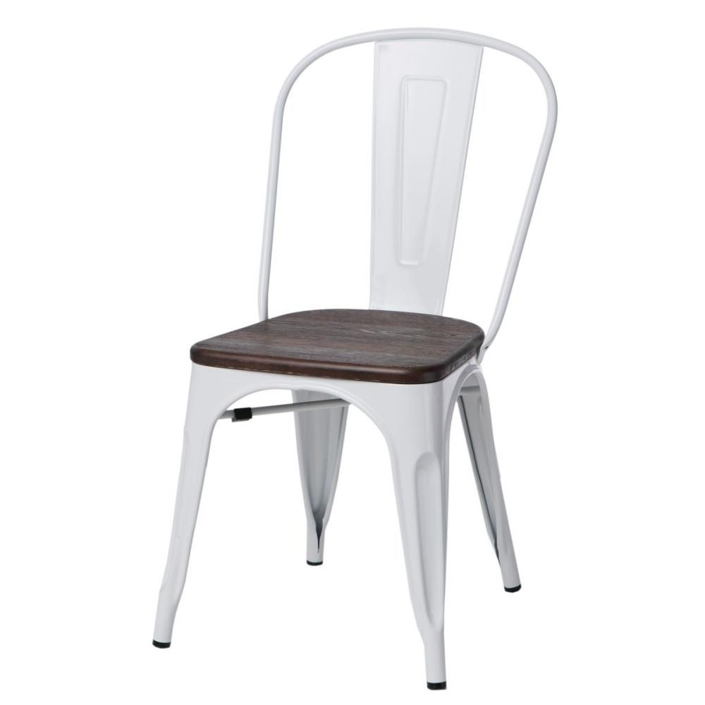 Krzesło Paris Wood białe - sosna szczotkowana