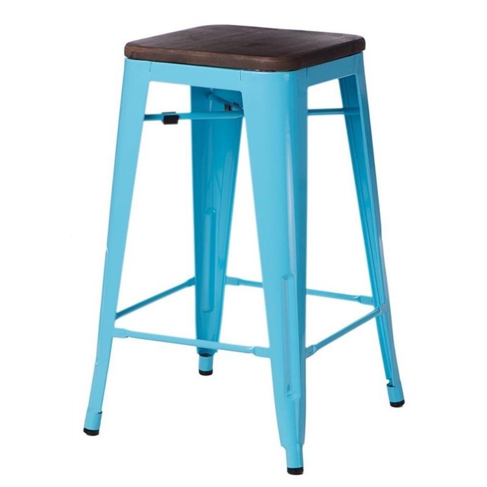 Hoker Paris Wood 75 cm niebieski - orzech