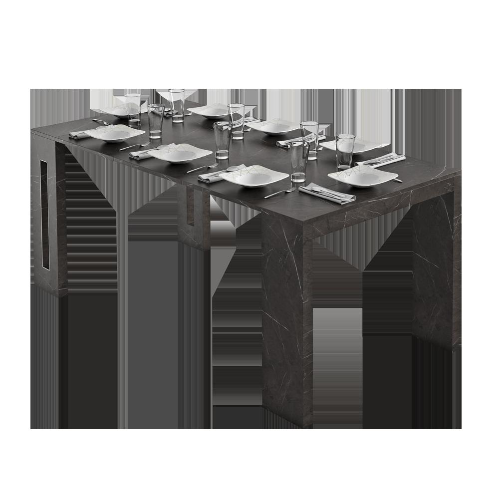 Włoski stół rozkładany Roma marmur czarny