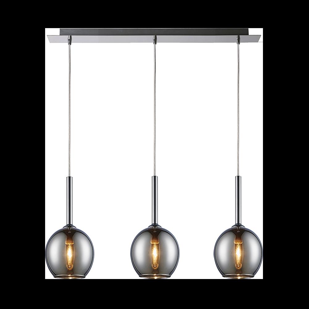 Lampa wisząca Miller x3 chrom