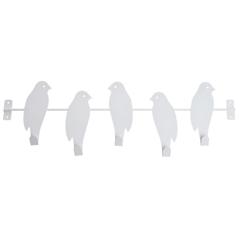 Wieszak na ręczniki Birds biały