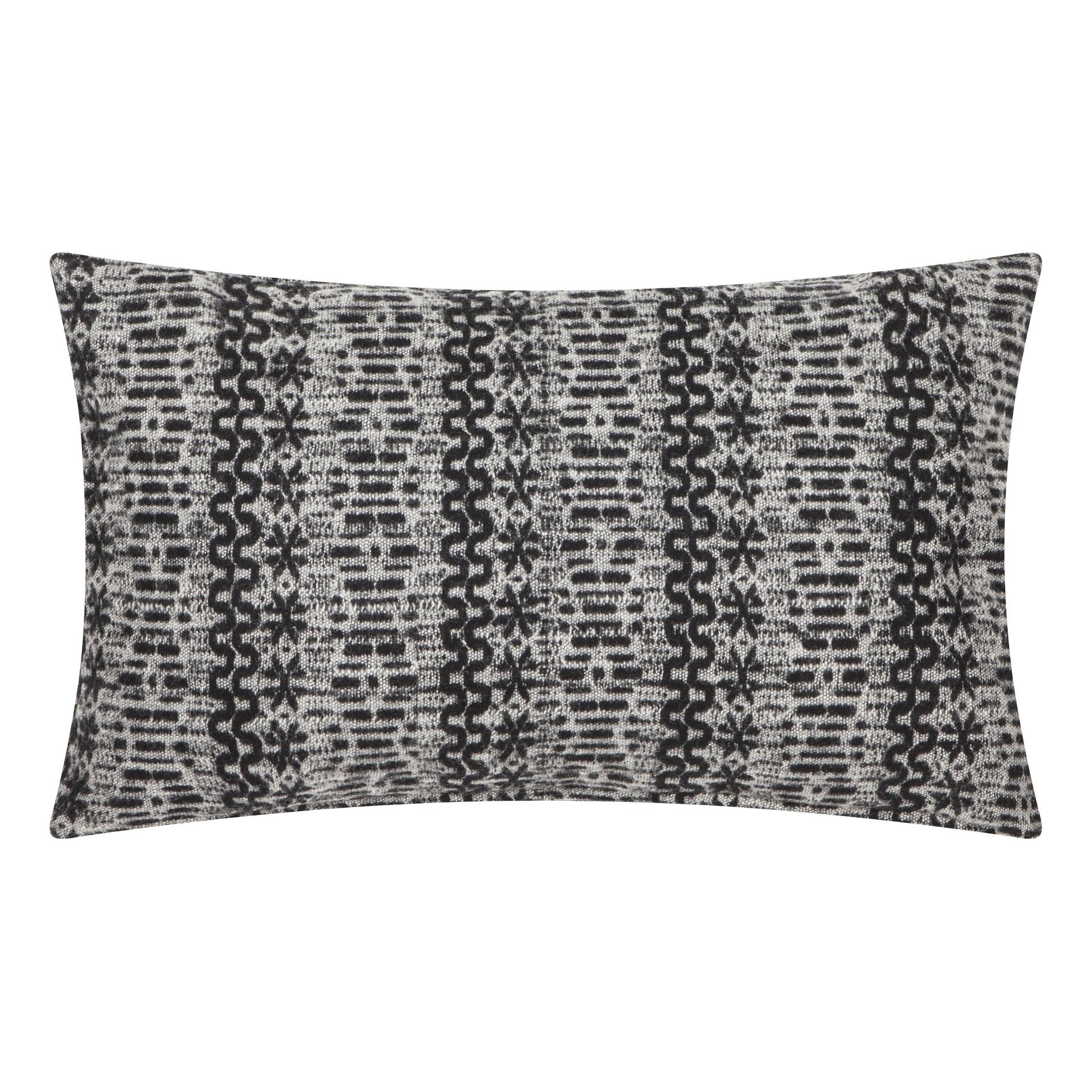 Poduszka z poszewką New Nordic czarno biała 30x50 cm