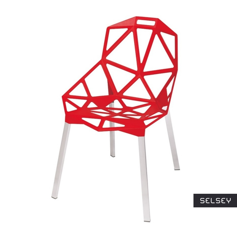 Krzesło Gap czerwone