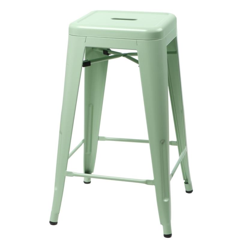 Hoker Paris 75cm zielony inspirowany Tolix