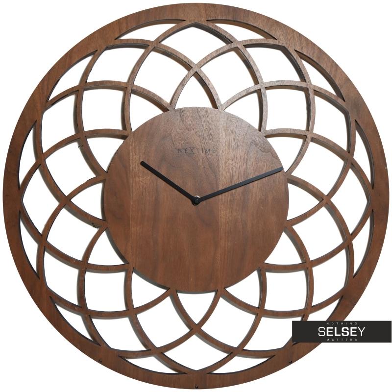 Zegar drewniany Dreamcatcher Big średnica 60cm
